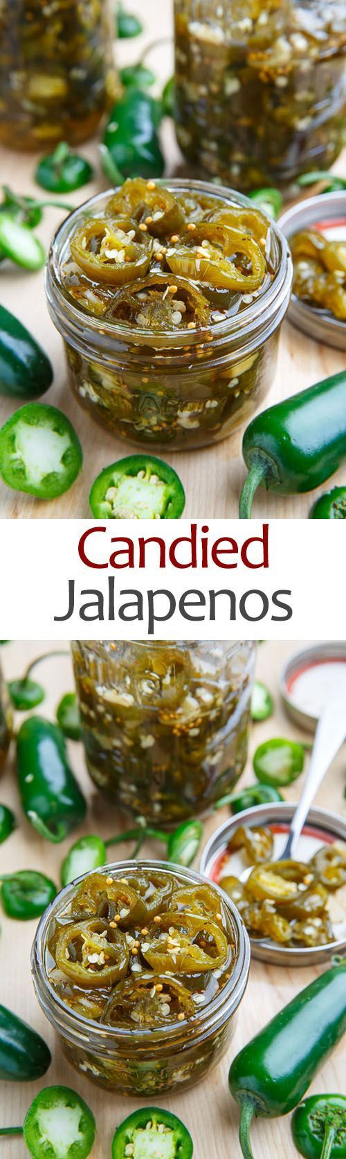 Candied Jalapenos - pickled and sweet, use them as a garnish or eat them straight out of the jar! | Closet Cooking