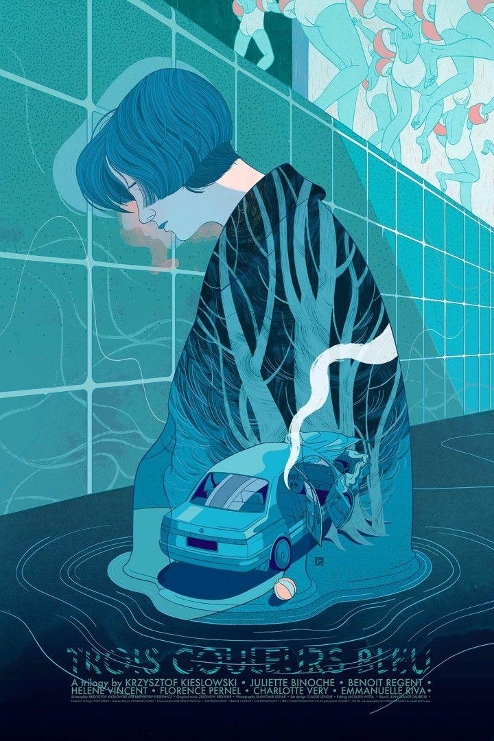 'Bleu' by Victo Ngai for Black Dragon Press