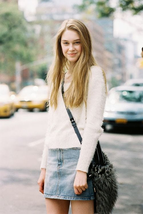 17 Best images about Style with jean skirt on Pinterest   Blazers ...