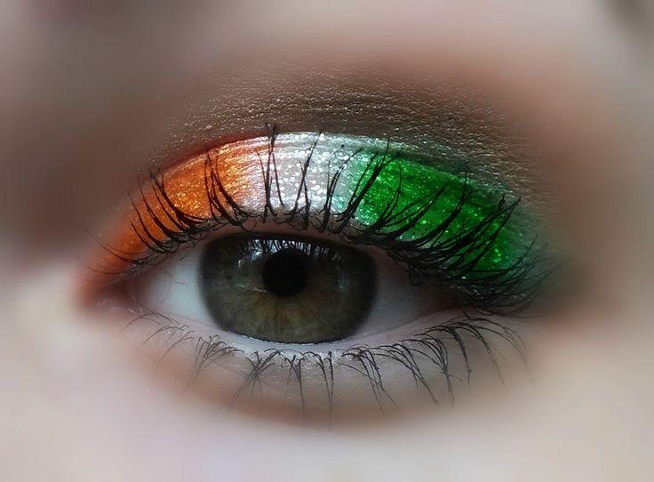 """""""Irish eyes"""" for St. Patrick's Day."""