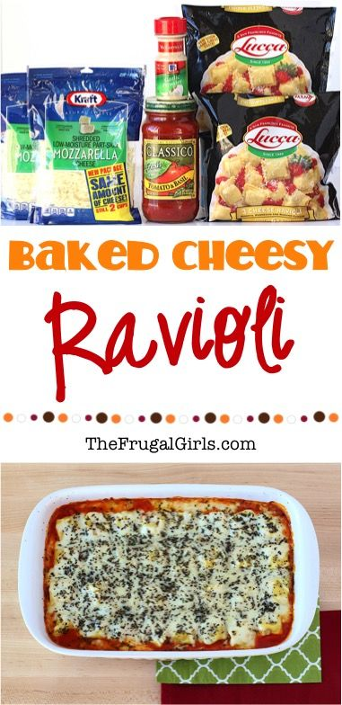 Ravioli Bake Recipe!  Spoil your family this week with this Easy Baked Cheese Ravioli Casserole for dinner.  It's the ultimate comfort food dish and absolutely delicious!