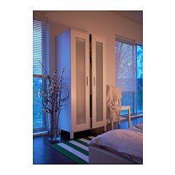 IKEA - ANEBODA, Kleiderschrank, , Verstellbare Scharniere stellen sicher, dass die Türen gerade hängen.
