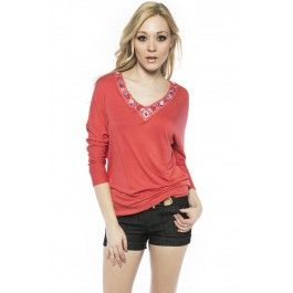 Embellished knit top from Suzy Shier
