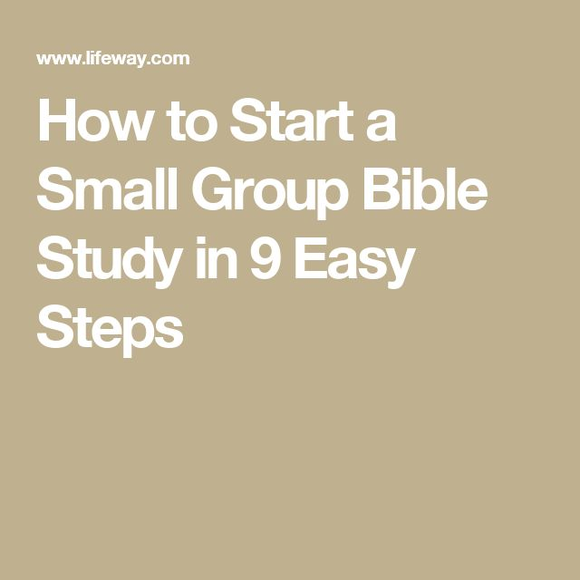 How to Start a Small Group Bible Study in 9 Easy Steps
