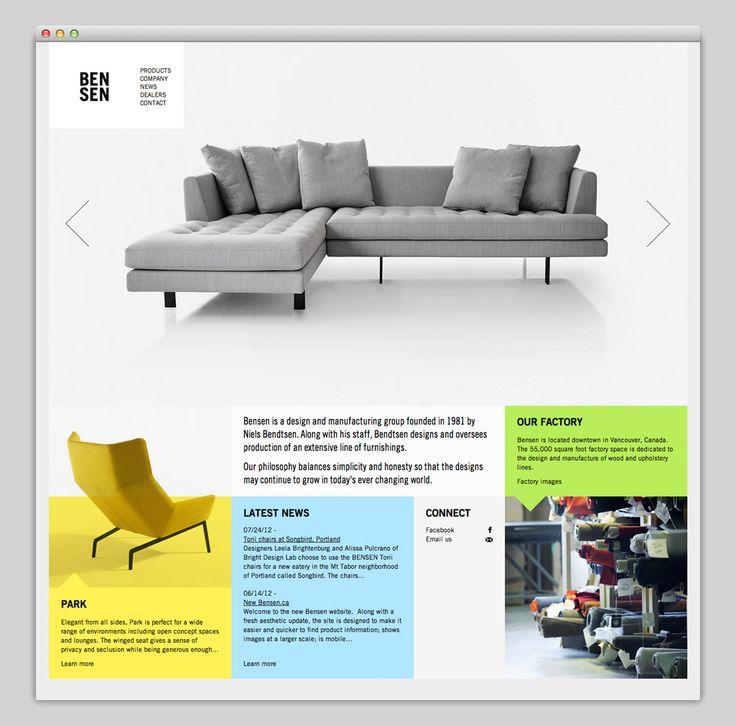 BENSEN website  Flat Web Design