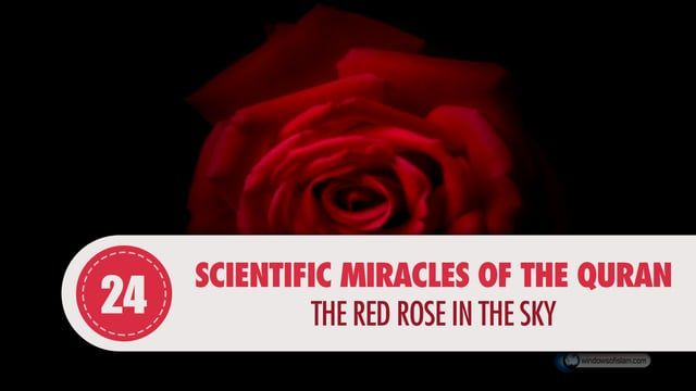 """In the 37th surah of ar-Rahman, our Lord states the following;  """"When the sky is rent asunder, and becomes a crimson rose like melted oil."""" (Surah, ar-Rahman: 37)"""