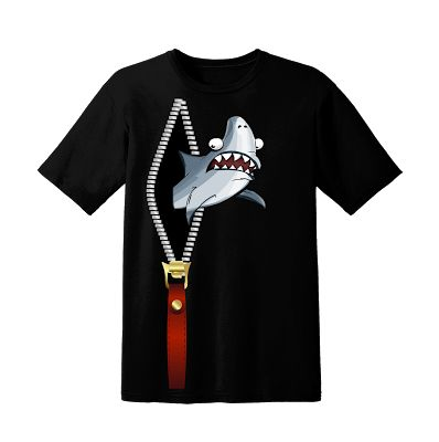 Tshirt Zipper Shark Black