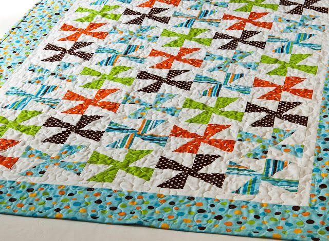 Leslie Unfinished: Pinwheel Quilt Tutorial
