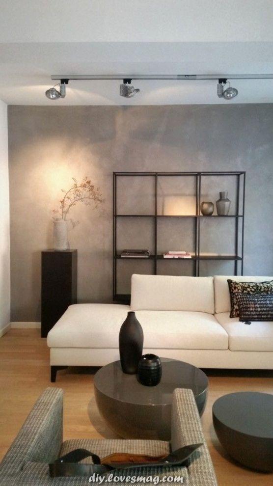 Betonoptik im Wohnzimmer dasjenige moderne Gestaltung ...
