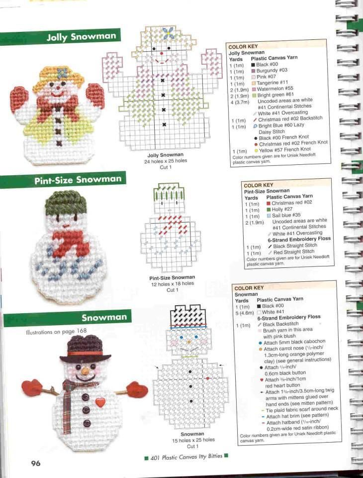 ITTY BITTYS - JOLLY SNOWMAN, PINT-SIZE SNOWMAN **AND** SNOWMAN 1/2