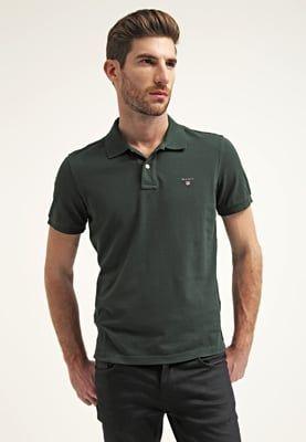 GANT REGULAR FIT  - Poloskjorter - bottle green - Zalando.no
