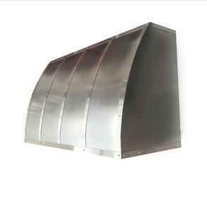 #5 Non Directional Stainless Steel Range Hood With Brushed Straps by VINCE GALIPO