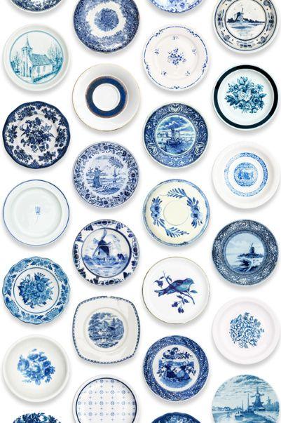 Porselein behang blauw | Producten | Studio ditte