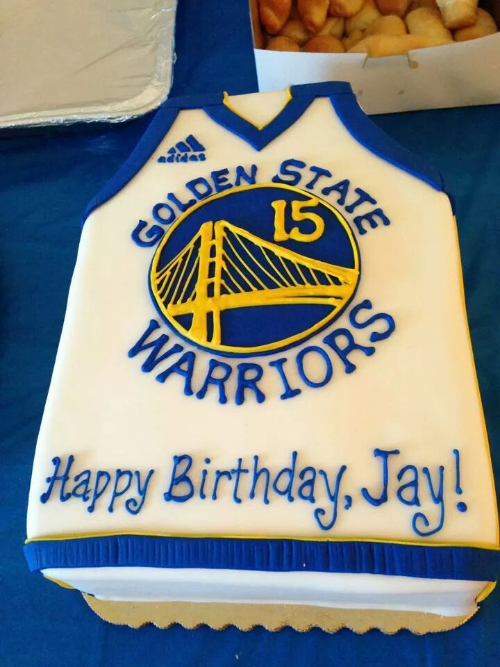 warriors cake