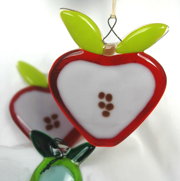 A Glass Apple a Day.... £9.50, via Etsy.  Great teacher gift!