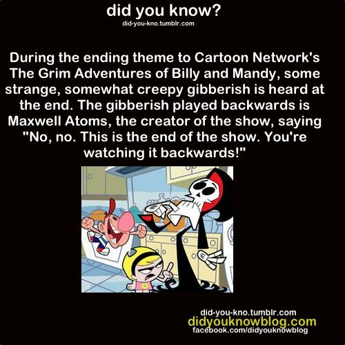 XD Leave it to Grim Adventures of Billy and Mandy. | Facts ...