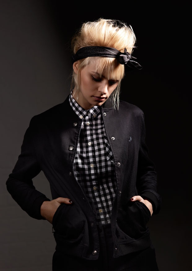 fred perry jacket and shirt mods rockers skinheads punks pinterest gingham shirt. Black Bedroom Furniture Sets. Home Design Ideas