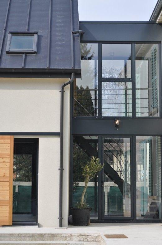 Jonction avec l 39 existant toiture zinc maisons et for Maison moderne zinc