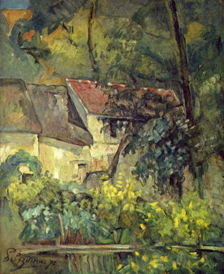 The House of Pere Lacroix in Auvers - Paul Cezanne Discover the coolest shows in New York at www.artexperience...