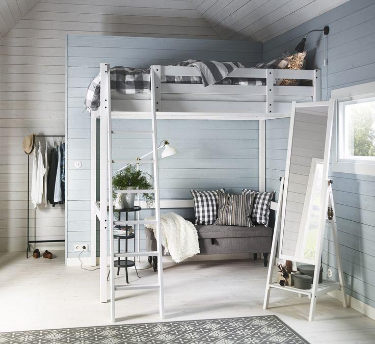 Το υπερυψωμένο κρεβάτι STORA είναι ιδανικό ακόμη και για το πιο μικρό διαμέρισμα. Χρησιμοποιήσε το χώρο κάτω από το κρεβάτι για να αποθηκεύσεις τα πράγματά σου, για να βάλεις το γραφείο σου ή ακόμη και για καθιστικό.