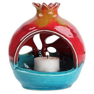 pomegranate shaped tea light oil burner!