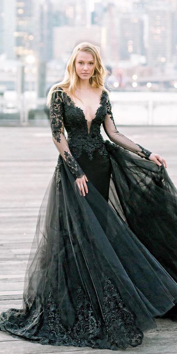 Pin On Black Wedding Dresses
