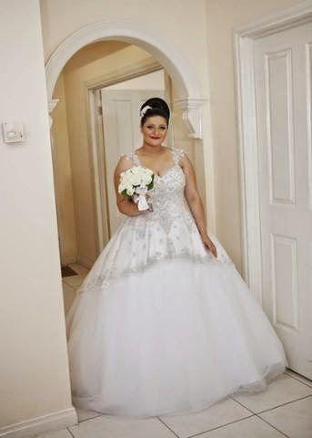 "Plus Size Wedding Dress | Real Life Bride wearing Roz la Kelin Diamond Gown "" Astor"". Princess Tulle Gown with Beaded Bodice. | Roz la Kelin, Bridal Designer. - Google+"