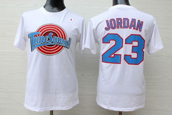 c2652b3d7e8 ... NBA Mens Stiched White Chicago Bulls 23 Jordan T-shirts Cheap NBA  Basketball Sports Mens Cheap Michael Jordan 23 Space Jam Tune Squad  Swingman jerseys ...