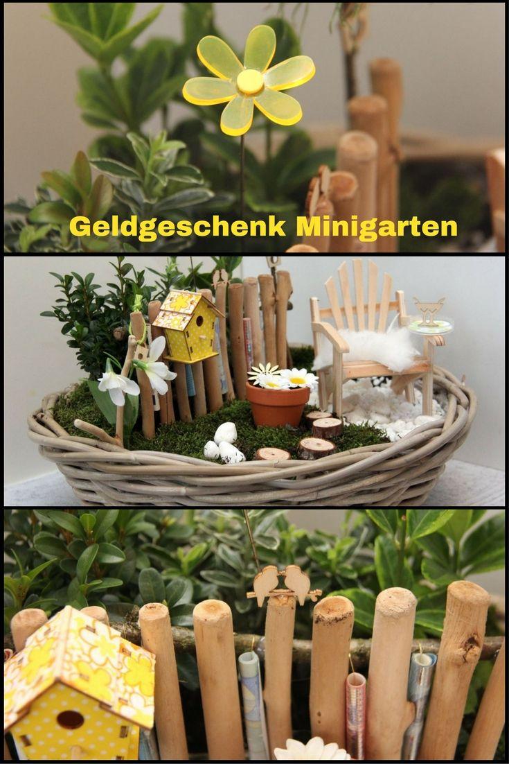 Minigarten Fruhlingshaftes Geldgeschenk Zum Runden Geburtstag Tischlein Deck Dich Geschenke Geldgeschenke Geschenk Garten