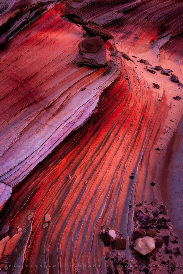 Patterns in sandstone.  Vermilion Cliffs National Monument, South Coyote Buttes.  Nature photography by Sean Bagshaw.