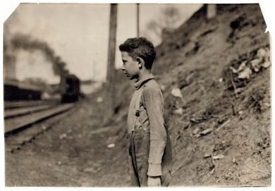 11 year old bakery worker, Glenn Dungey, of Oklahoma City, Oklahoma, April 1917. Photograph by Lewis Wickes Hine