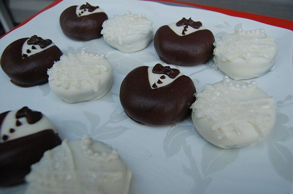BRIDE and GROOM chocolate covered OREOS wedding favors bridal shower favors on Etsy, $14.00