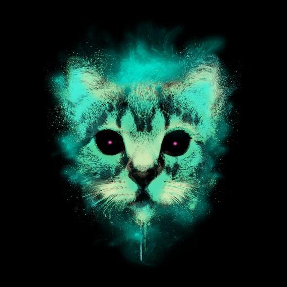 Kozmosz macska-Női póló