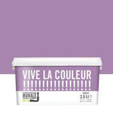Peinture violet VIVE LA COULEUR! 2.5 l