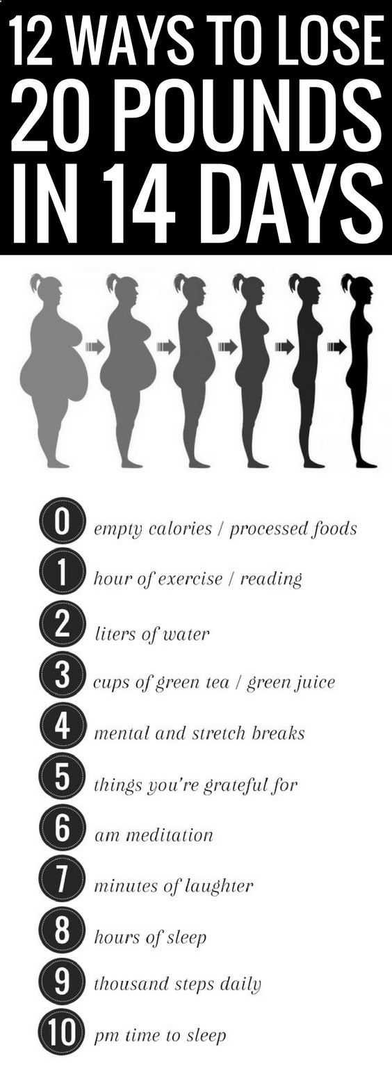 12 simple ways to lose 20 pounds in 14 days. | exercise ...