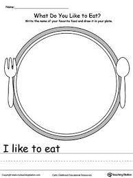 Image result for I like to eat I don't like to eat kindergarten