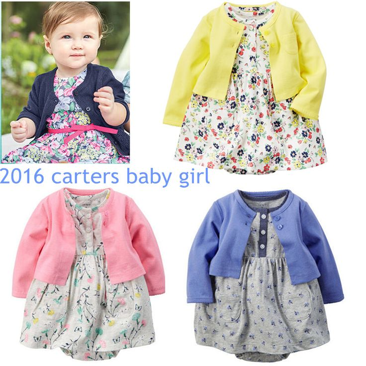2016 new nice carters Baby Girl costumes summer dresses for girls , 0-24M cotton infant girl clothes for bebes clothing sets