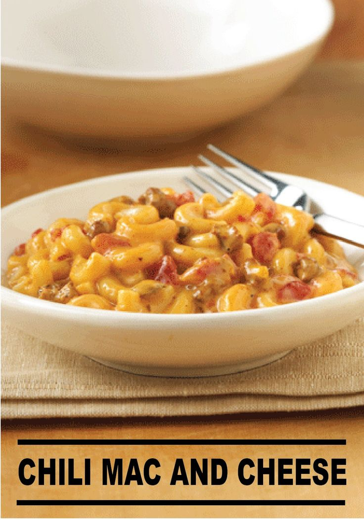 twist to the traditional mac and cheese with this Chili Mac and Cheese ...