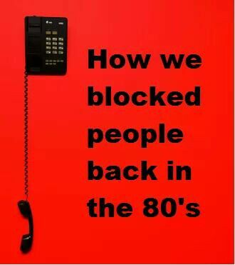 Call blocking in the 80's (and 90's)