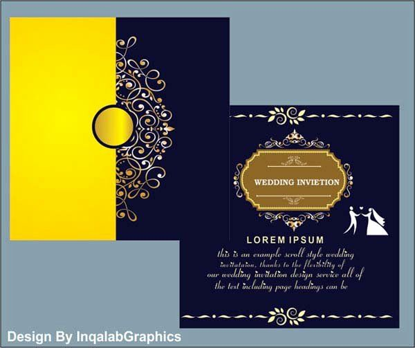 Beautiful Wedding Card Template Free Download With Images