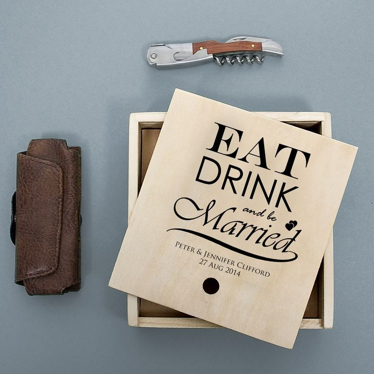 Waiter's Friend Wine Set - Eat Drink and Be Married - yourgifthouse