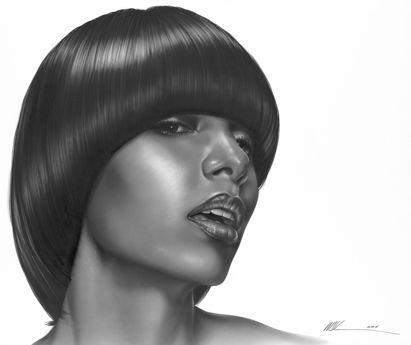 Black Beauty Salon Art African American Hair Posters