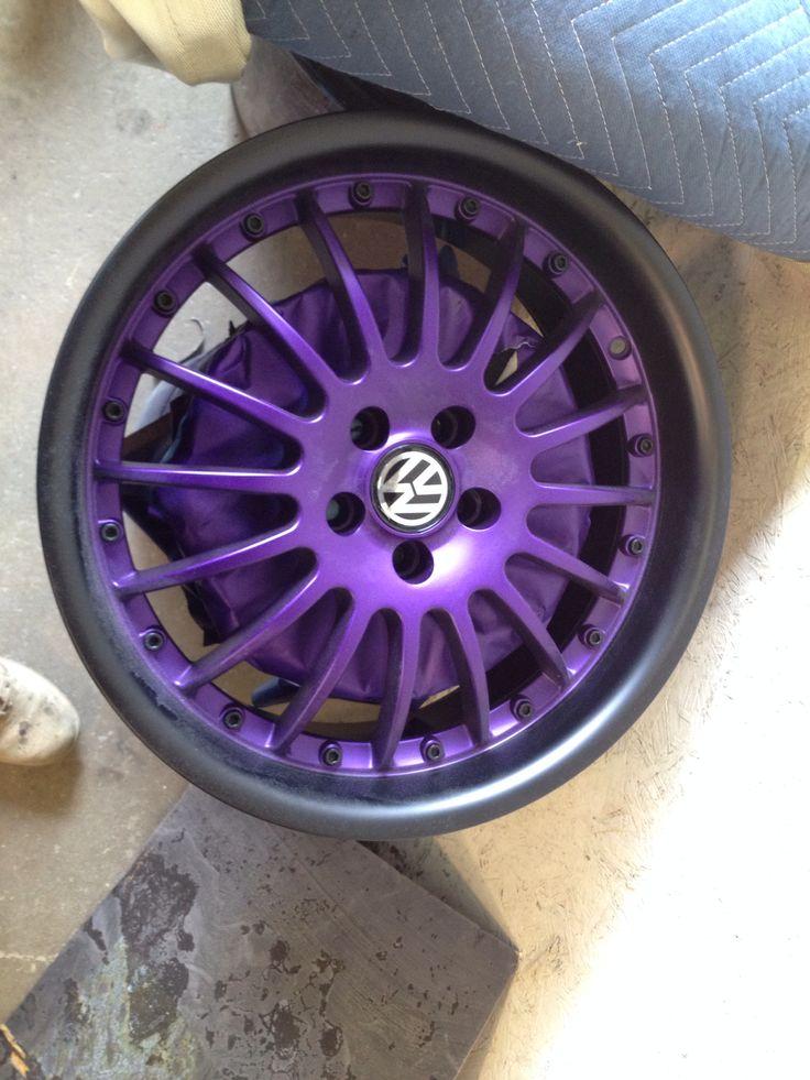 Volkswagen bbs purple black rims