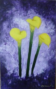 "Saatchi Art Artist Diana Encea; Painting, ""Calla lilies"" #art"
