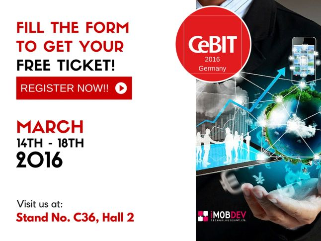 #CeBIT Hannover Germany Event Report 2014 to 2016 by iMobDev Technologies