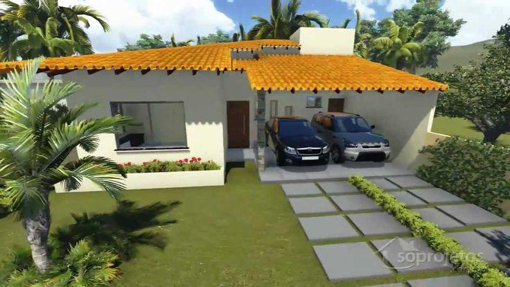 Plantas de casas t rrea com 3 quartos e varanda gourmet - Casas americanas por dentro ...