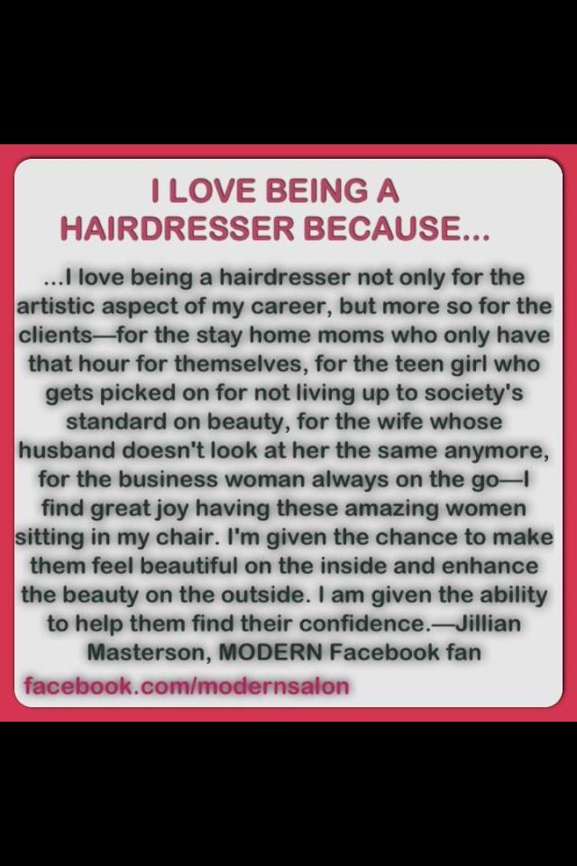 I ❤being a hairdresser...