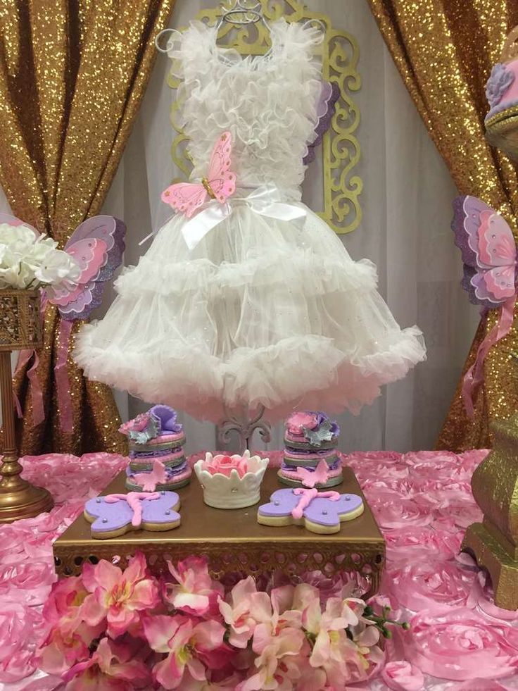 Gorgeous decor at a princess garden baby shower party! See more party ideas at CatchMyParty.com!