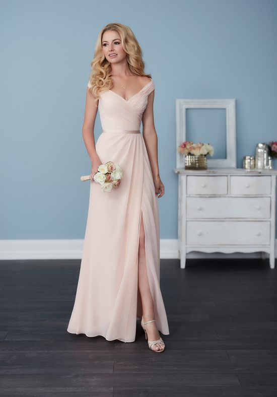 Full-length A-line chiffon bridesmaid dress | Christina Wu Celebration 22758 |  http://trib.al/tiFWJvM
