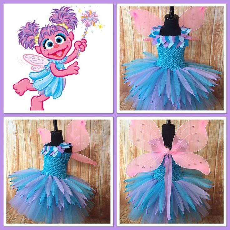 Abby Caddaby Tutu, Abby Caddaby Costume, Abby Caddaby Dress, Abby Caddaby Sesame Street, Abby Cadabby Tutu Dress, Fairy Tutu, Fairy Costume by LittleLadybugTutus on Etsy